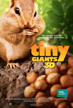 Movie Poster for Tiny Giants giant screen theatre film at the houston museum of natural science.