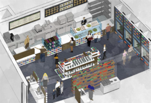 A rendering of Sodexo, and new dining option for Houston Museum of Natural Science visitors.