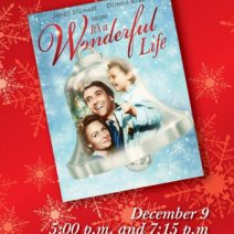 Holiday showing of It's a Wonderful Life at Houston Museum of Natural Science.