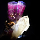 A macro photograph of the Rabbit Ears Tourmaline. One of the pieces of natural art found in the Cullen Hall of Gems and Minerals.