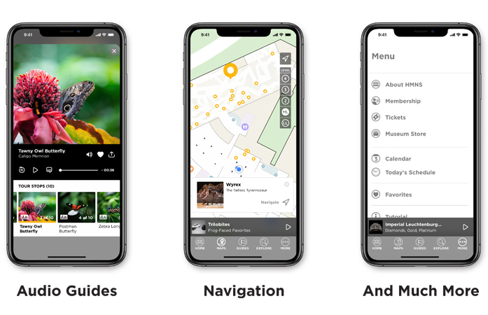 Enhance your museum experience with the MyHMNS app offering audio guides, navigation, and more.