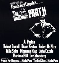 Movie poster for The Godfather, Part II film screening at the museum's summer movie club.