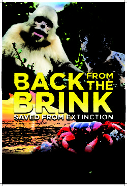 Movie poster for Back from the Brink nature documentary at the houston museum of natural science